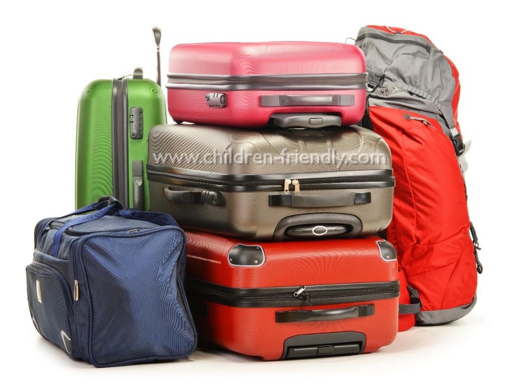 equipaje para viajar con niños
