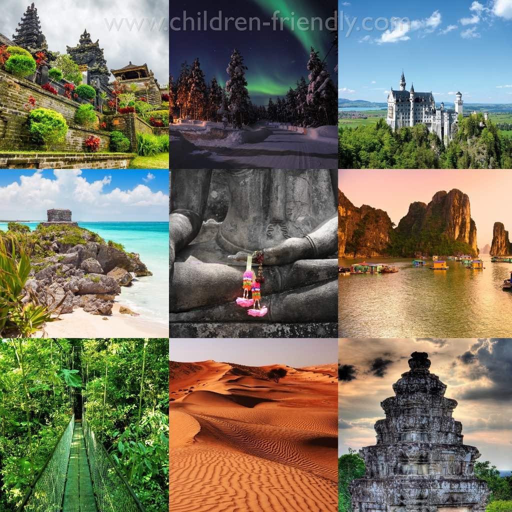 destinos exoticos para ir con niños