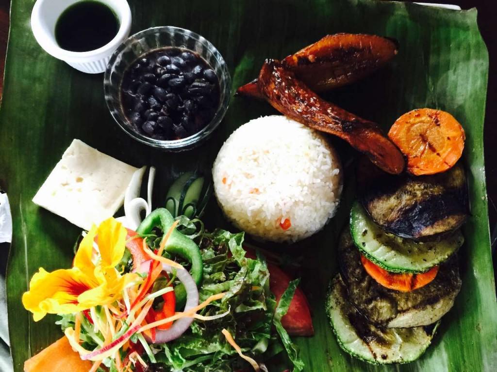 plato vegetariano costaricense especial niños