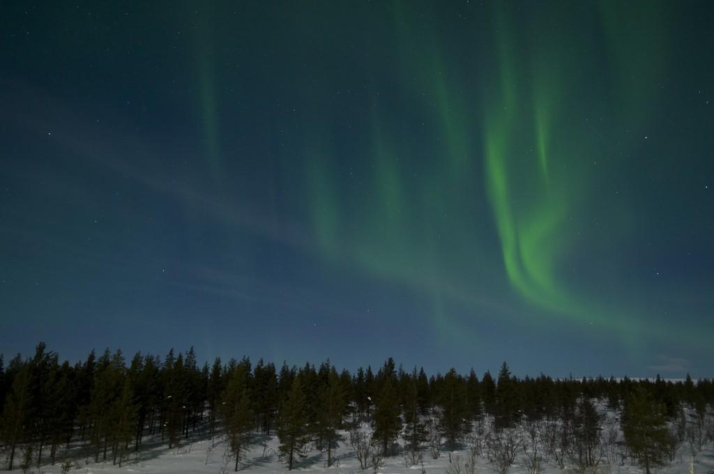 ver con niños auroras boreales
