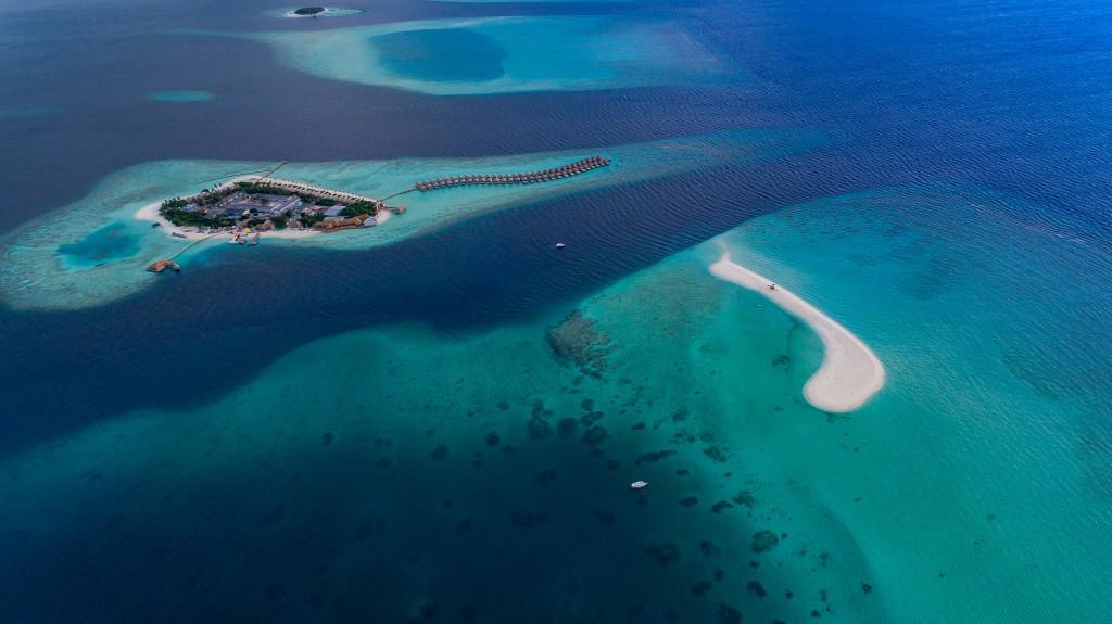 maldivas desde el aire