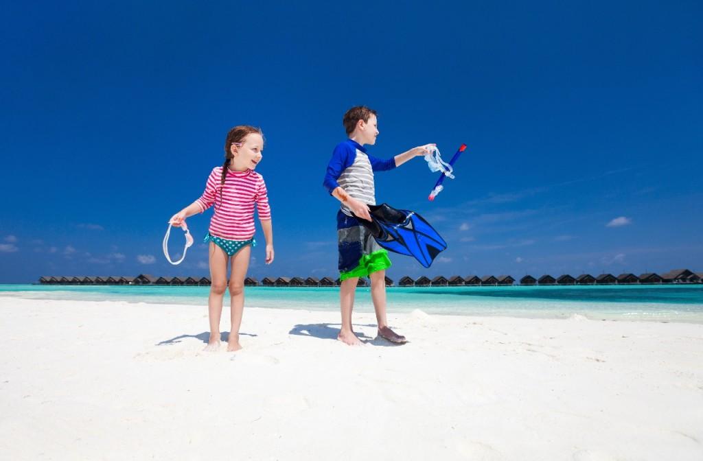 snorkel niños maldivas