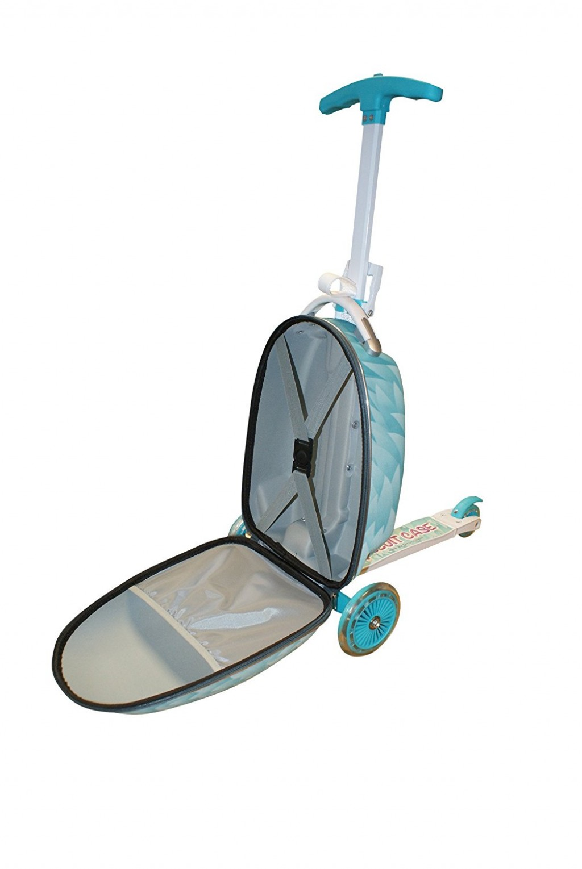 maleta con patinete para niños