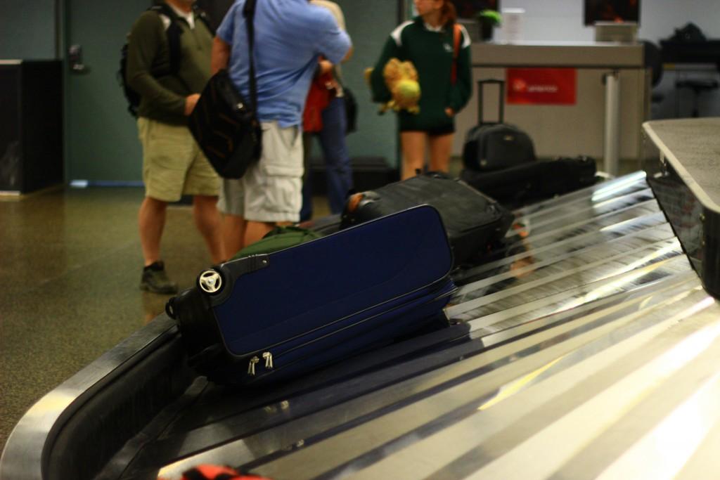 Zona de recogida de equipaje en aleman